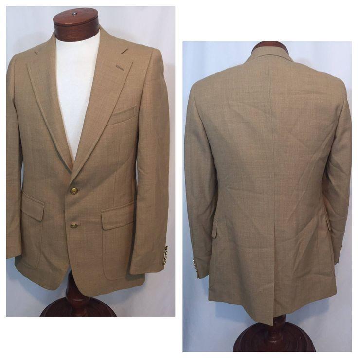 Vintage 40 Medium M Chaps Ralph Lauren Gold Golden Tan Blazer Sport Coat Blazer Sportcoat 2 Button 90s Nineties The Hub  Made in USA Preppy by CarolinaThriftChick on Etsy