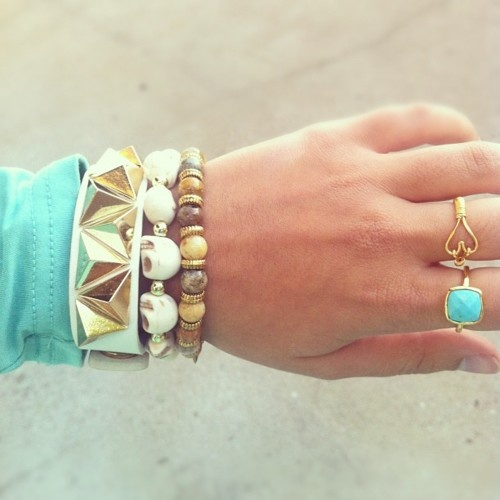 armpartyMi Style, Dramatic Aqua, Turquoise, Aqua Moments, Accessories, Pastel Jewelry, Arm Candies, Armparty, Arm Parties