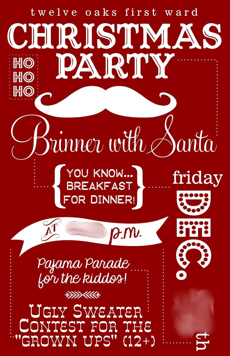 I like the idea of a pajama party for the kids and ugly sweater contest for adults! Cute cute cute!