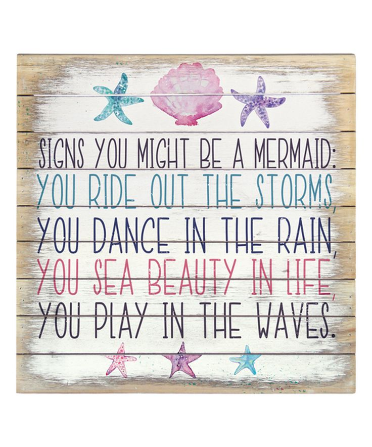 Take a look at this 'Signs You Might be a Mermaid' Wall Art today!