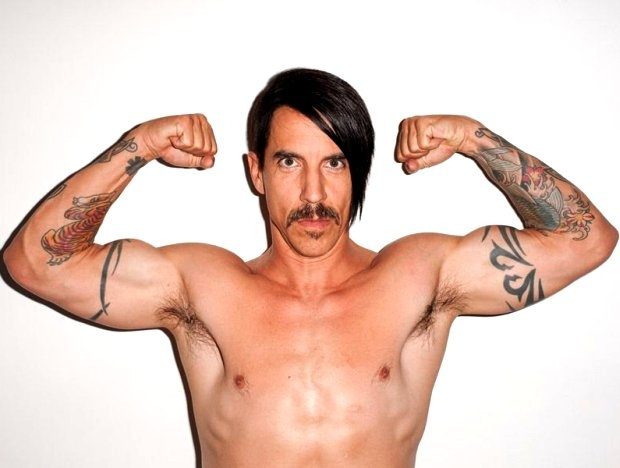 Anthony Kiedis(RHCP)   #Turns50–Still The World's Healthiest Rock Star - - TIPS: swimming, drinking lots of water in the morning, surfing, vegetables, salmon, acupuncture, Kaballah instruction, more swimming, and—for the love of Flea—dinner before 6.