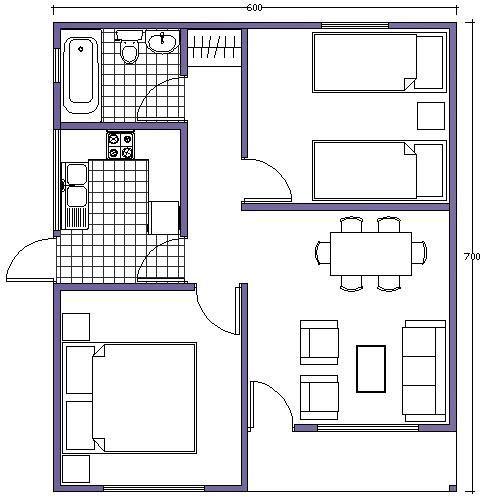 8 best Casas modernas images on Pinterest Dream house plans, Small - plan maison plain pied 80m2