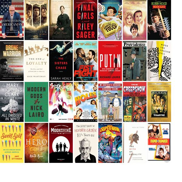 """Wednesday, July 12, 2017: The Chelmsford Public Library has four new bestsellers, ten new videos, six new audiobooks, 17 new children's books, and 42 other new books.   The new titles this week include """"Rediscovering Americanism: And the Tyranny of Progressivism,"""" """"The Lost City of Z,"""" and """"A Quiet Passion."""""""