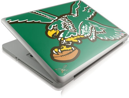 "Will anyone take me seriously with this is the question. ""Skinit Philadelphia #Eagles Retro Logo Skin for Apple Macbook Pro 13 2011 