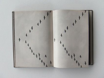 Daniel Gustav Cramer and Haris Epaminonda: The Infinite Library: an 'expanding archive of books, each created out of pages of one or more found books and bound anew.'