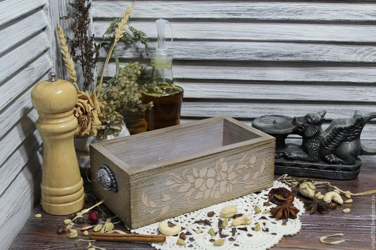 """Купить Короб для специй """"Старинный"""" - бежевый, ручная авторская работа, ручная работа, короб для хранения"""