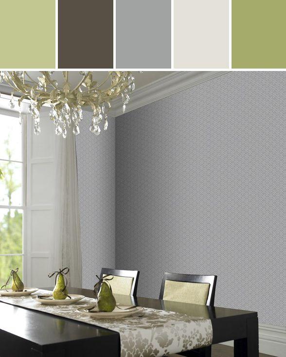 Gloriental wallpaper by Laurence Llewelyn-Bowen  Designed By Graham & Brown via Stylyze #colourpalettesilove