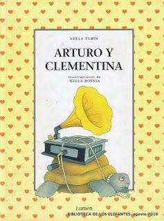 """Adela Turín. Arturo y Clementina. Arturo y Clementina és un llibre editat a Espanya per primera vegada, el 1976, dins la col·lecció creada per la mateixa autora anomenada """"A favor de las niñas""""  i  s'hi incloïen històries on la dona adoptava una actitud poc usual en la societat d'aquella època. Per això, Arturo y Clementina, ha estat una història que ha encapçalat la lluita per la igualtat de la dona des d'aquells anys fins a l'actualitat."""