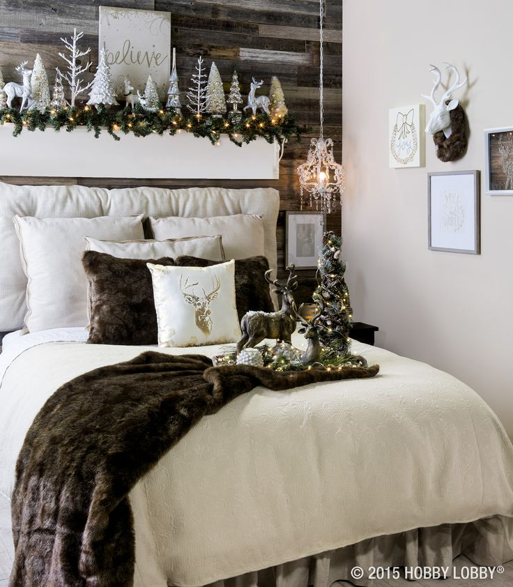 17 best ideas about christmas bedroom on pinterest christmas bedding christmas bedroom - Winter bedroom decor ...