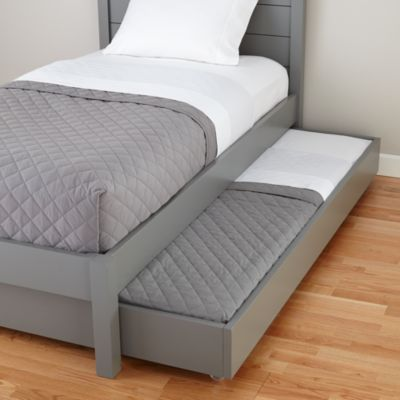 Uptown Storage Trundle (Grey)  | The Land of Nod - Great for sleepovers.