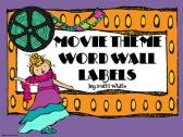 Movie Themed Word Wall Labels (by subject) product from ASeriesof3rdGradeEvents on TeachersNotebook.com