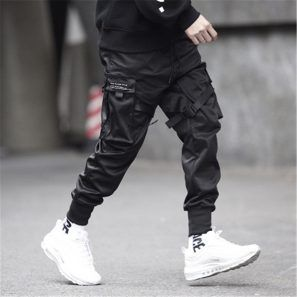 Black Trousers Sweat Dance Sports Pants
