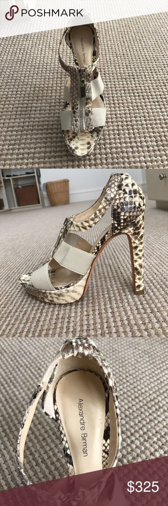 ALEXANDRE BIRMAN REAL SNAKE SKIN ZIPPER PUMP Real snake skin pump heel by Alexandre Birman. Alexandre Birman Shoes Heels