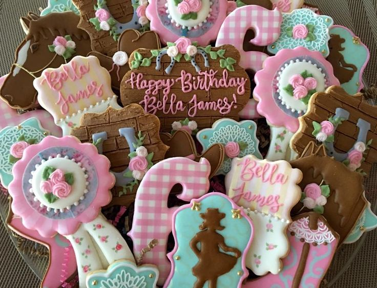 shabby chic cowgirl cookies