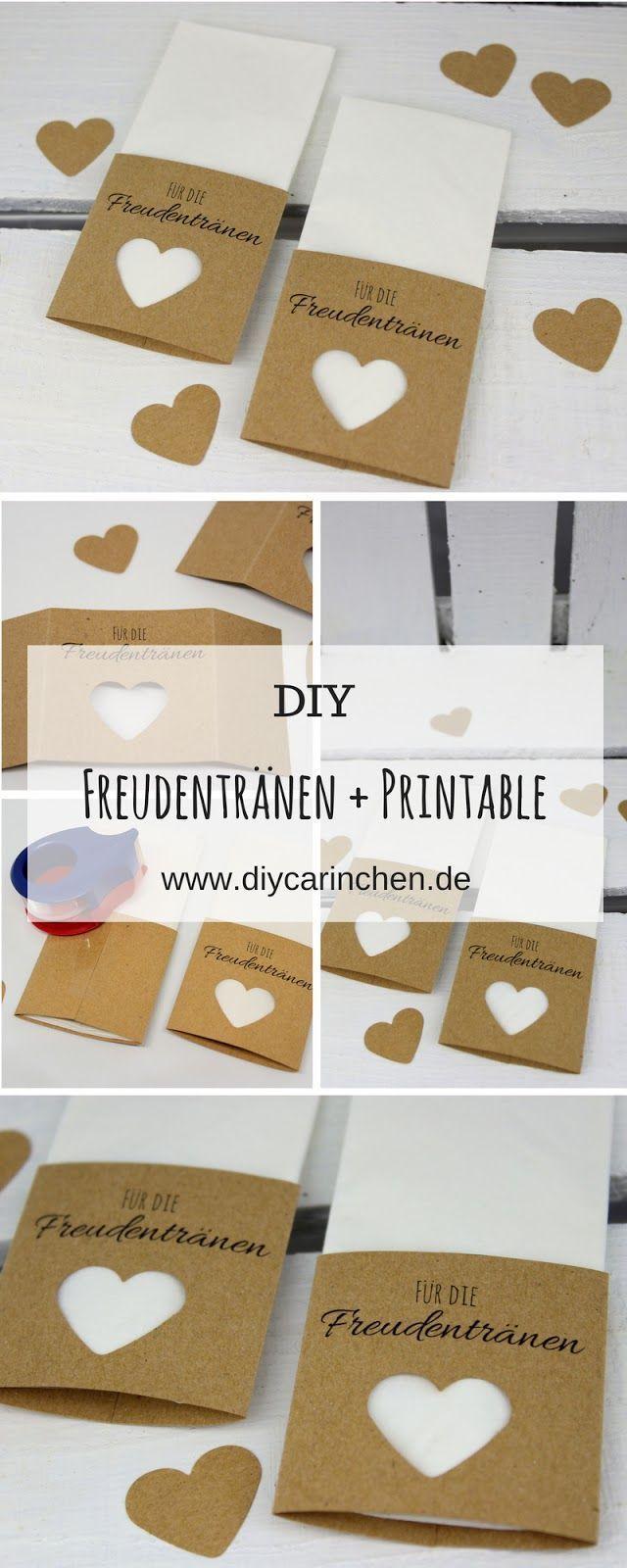 Anleitung: Taschentücher für die Freudentränen zur Hochzeit ganz einfach selber machen + kostenloses Printable – Personello – DIY Ideen: Geschenke, Deko, Basteln & Selbermachen