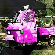 #Italian #Ape #Pink