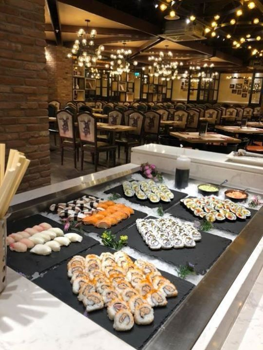 Sushi bar in our Liverpool Restaurant.