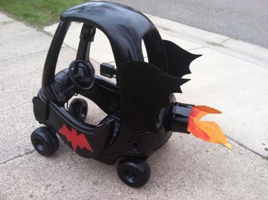 batman car redid little kids car
