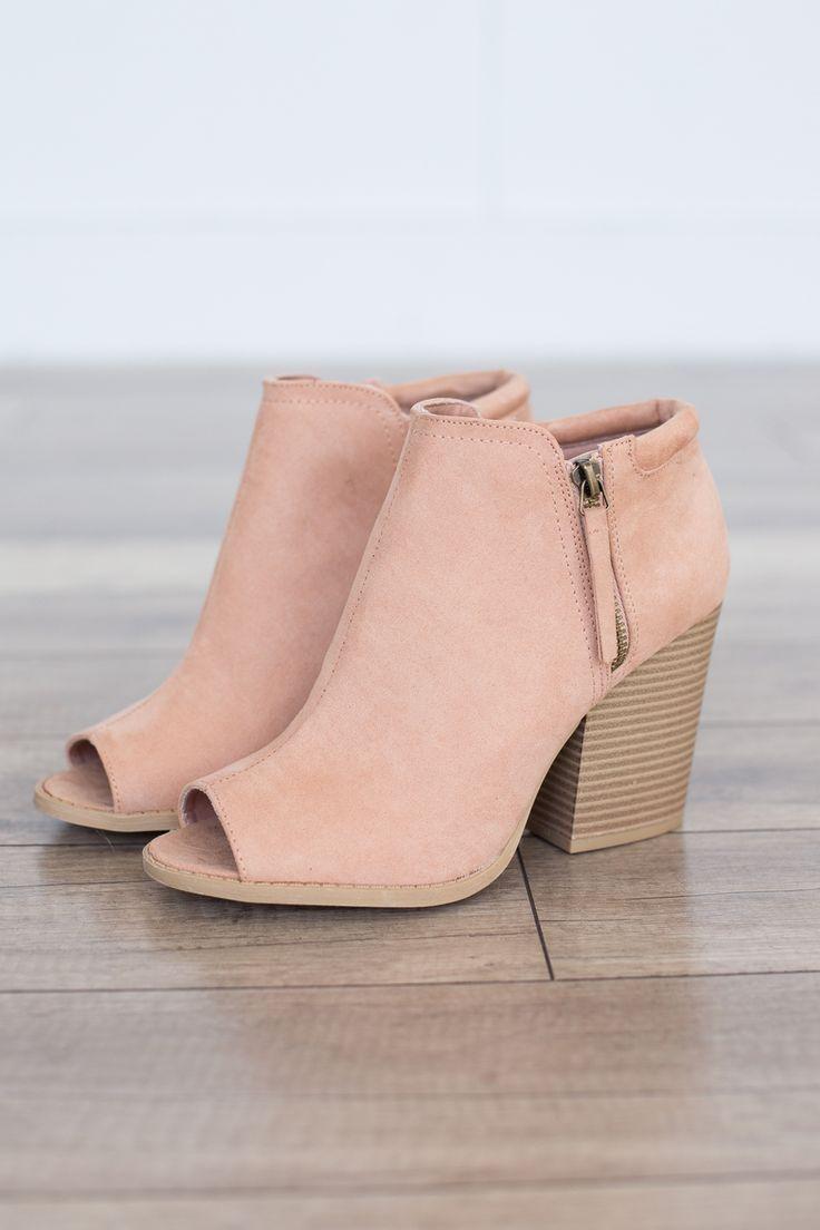 Peep Toe Bootie mit seitlichem Reißverschluss – Blush – Magnolia Boutique – Sabine Leonhard