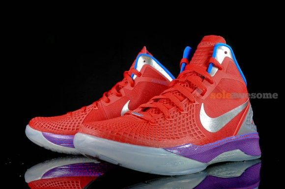 Buy Online Cheap Nike Hyperdunk 2011 LowRoyal Blue Red Silver Mo