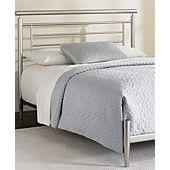 Blythe Satin California King Bed, Metal Bed Frame