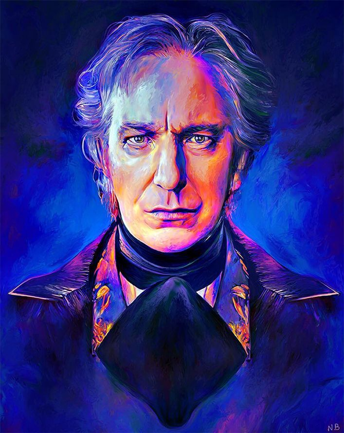 Alan Rickman by NickyBarkla.deviantart.com on @DeviantArt