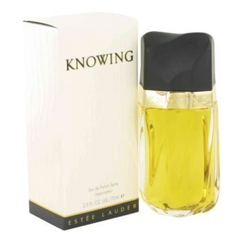 Knowing Perfume by Estee Lauder, 2.5 oz Eau De Parfum Spray for Women. Knowing Perfume by Estee Lauder 2.5 oz Eau De Parfum Spray for Women. Launched By The Design House Of Estee Lauder In 1988, Knowing Is Classified As A Refined, Woody, Mossy Fragrance. This Feminine Scent Possesses A Blend Of Rose, Mimosa, Jasmine, Oakmoss, Amber And Sandalwood. It Is Recommended For Evening Wear.