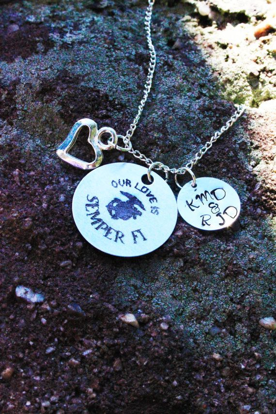 MARINE WIVES AND GIRLFRIENDS!!! PERFECT PERSONALIZED NECKLACE TO COMMEMORATE YOUR RELATIONSHIP!!  Only $16!!!
