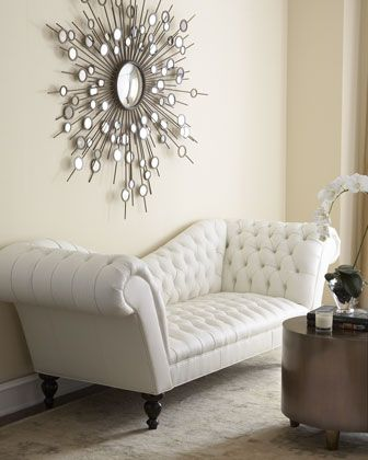 """""""Leala"""" White Leather Sofa by Old Hickory Tannery at Horchow."""