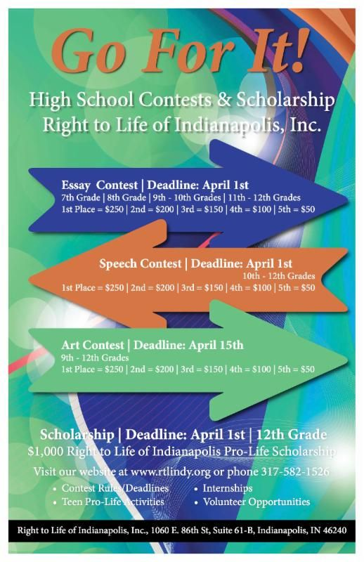 Essay contests/ scholarships for high school students