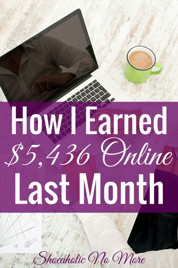 Last month I made over $5,000 working from home. How did I do it working from home? Check out my sources of income here.