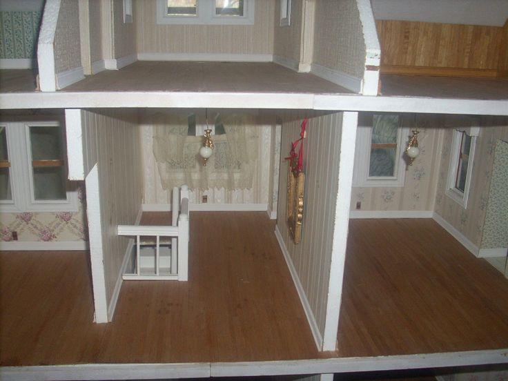 Vintage little orphan annie wooden dollhouse 4 feet wide for Young house love dollhouse