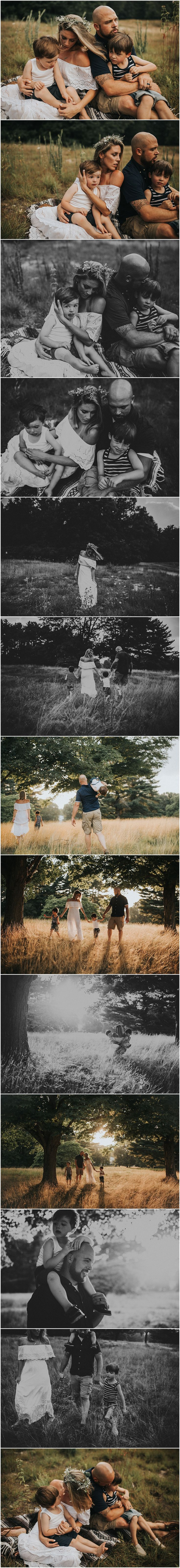 Massachusetts Family Photographer: Sarah Driscoll Photography-- bohemian outdoor family photoshoot