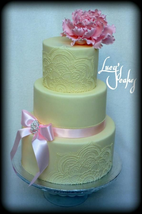 Wedding cake hand painted Royal Icing - Cake by Lucyscakes