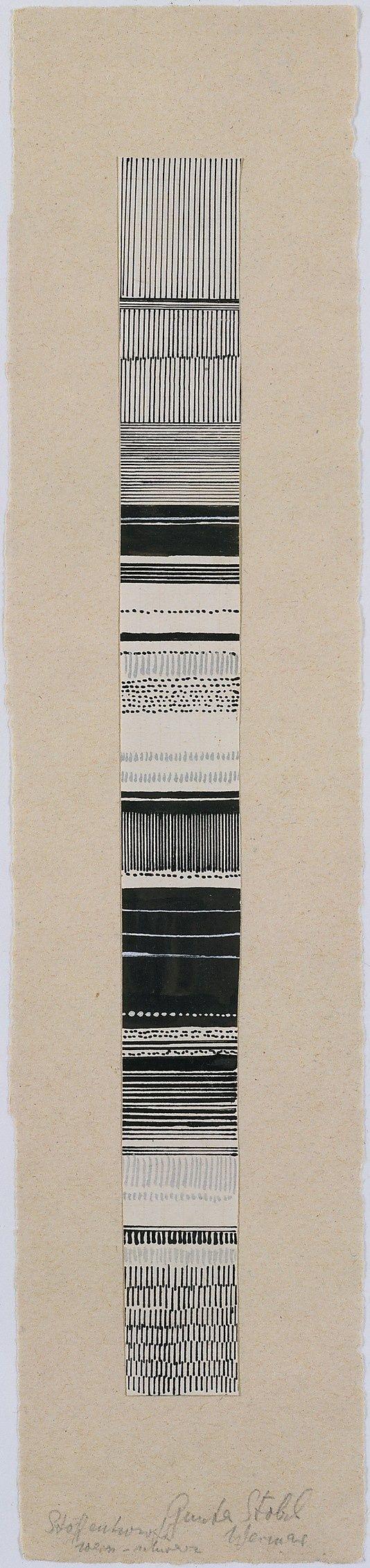Pattern / Gunta Stölzl - Watercolor and ink fabric design, 1919–1925. Bauhaus Archive.