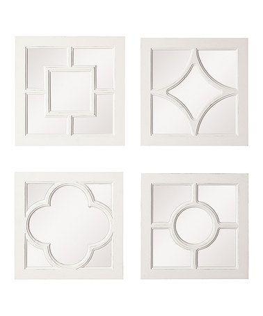 This White Framed Mirror Set is perfect! #zulilyfinds