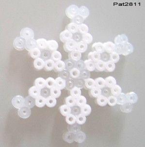 Flocon en perles hama