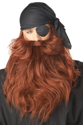 Grey Pirate Beard  Moustache Costume Accessory * Continue to the product at the image link.