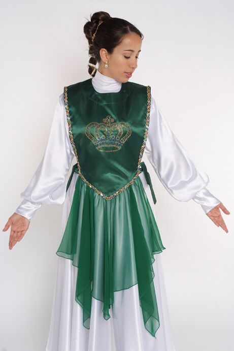 Green shifon worship dance Ephod Rejoice dance ministries