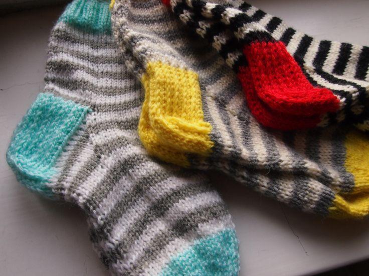 Stripy socks, woolen socks