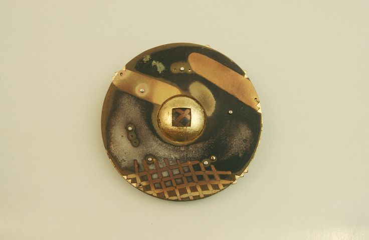 Cosmos Series: Multi-Metal Lamination; sterling, 24k gold leaf.