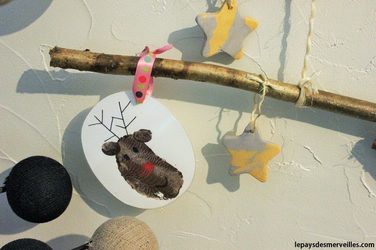 Activit noel t te de rennes empreinte pomme de terre - Bricolage noel pomme de pin ...