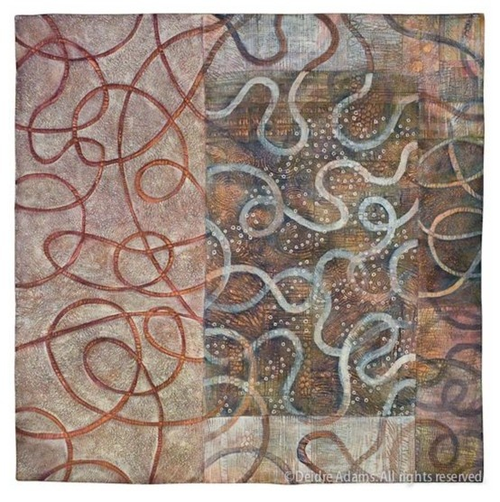 Deidre Adams, Detour, 36 x 36 inches: Q For Quilts, Qfor Quilts, Textiles Art, Quilts Inspirations, Painting, Contemporary Quilters, Art Quilters, Modern Quilts