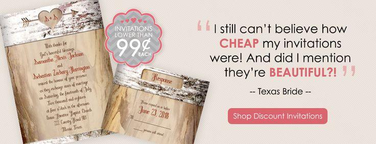 Shop Invitations - http://www.annsbridalbargains.com/index.jsp?&sSource=WeddingWire&kw=Q499Invites