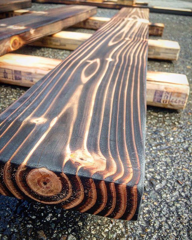 Charred wood