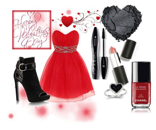 """""""Valentine's Day -1"""" by desiresinstyle on Polyvore featuring moda, Dorothy Perkins, Lancôme, Sigma Beauty, Chanel, Kevin Jewelers, women's clothing, women, female e woman"""