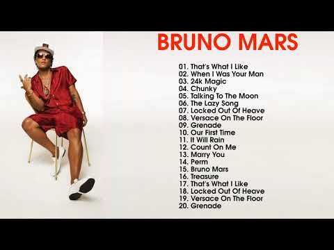 The Best Songs of Bruno Mars -Bruno Mars Greatest Hits playlist - YouTube