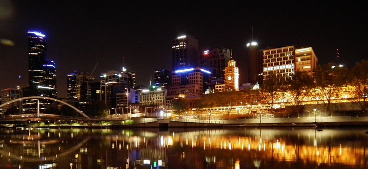 Reflections of Melbourne on the yarra