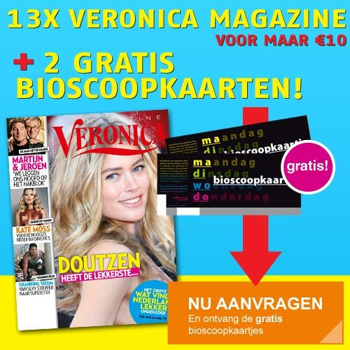 Ontvang nu #gratis #bioscoop #kaarten bij het #Veronica #magazine