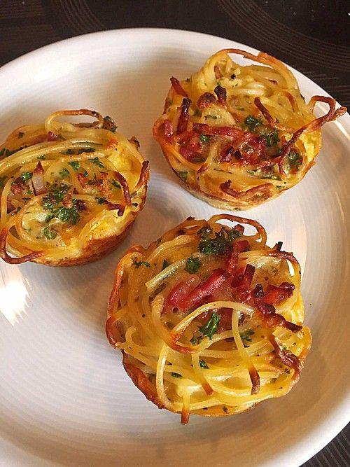 Spaghetti carbonara-Muffins (Rezept mit Bild) von Hobbykochen | Chefkoch.de